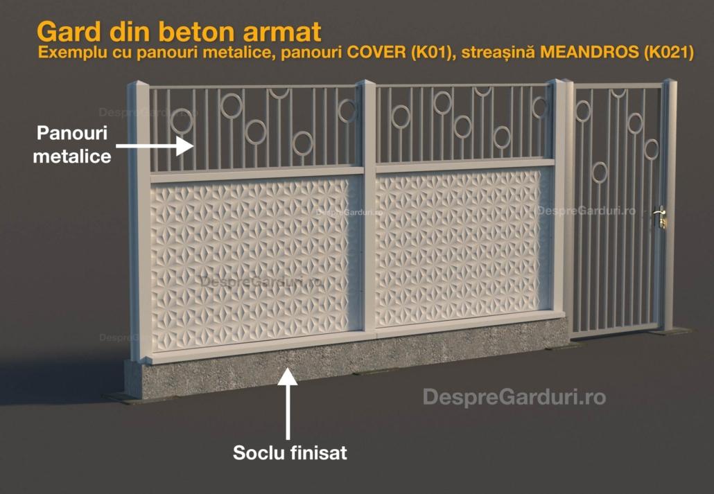 Montaj gard cu soclu din beton